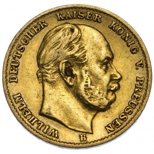 Germany: 1873 10 Mark Gold VF