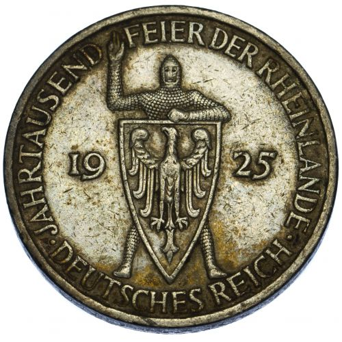 Germany: 1925-F 5 Mark XF