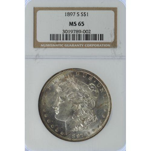 1897-S $1 MS-65 NGC