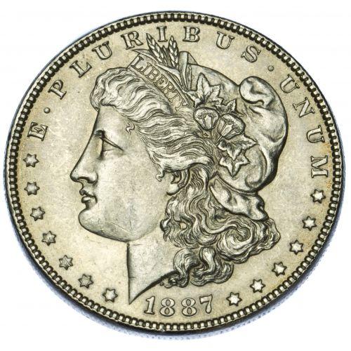 1887 $1 AU-58