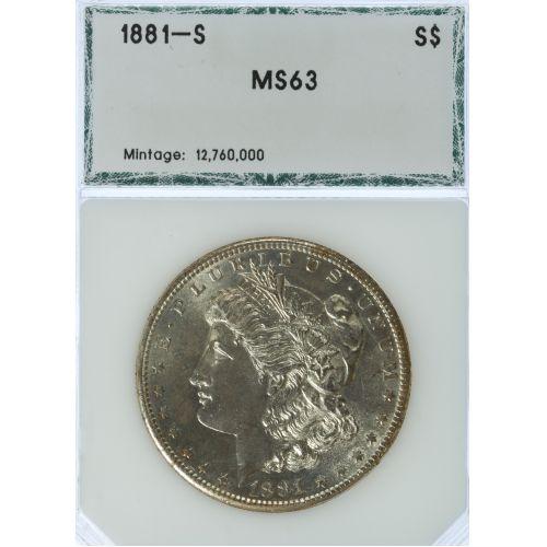 1881-S $1 MS-63 PCI