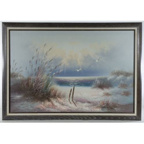 Oil on Canvas of a Shoreline