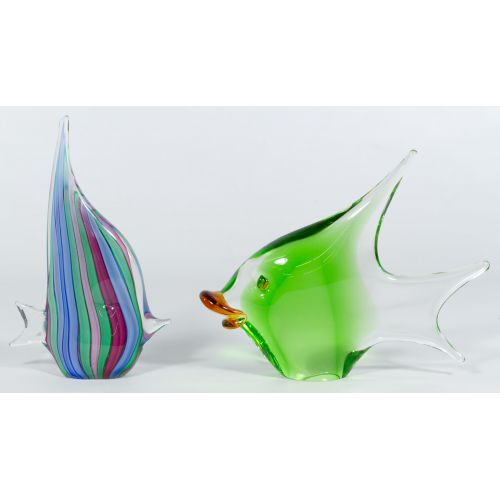 Pair of Decorative Glass Fish