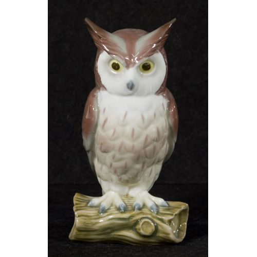 "Lladro ""Horned Owl"" #5420 Glazed Retired"