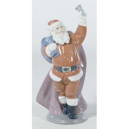 """Lladro """"Jolly Santa"""" #6500 Glazed Retired"""