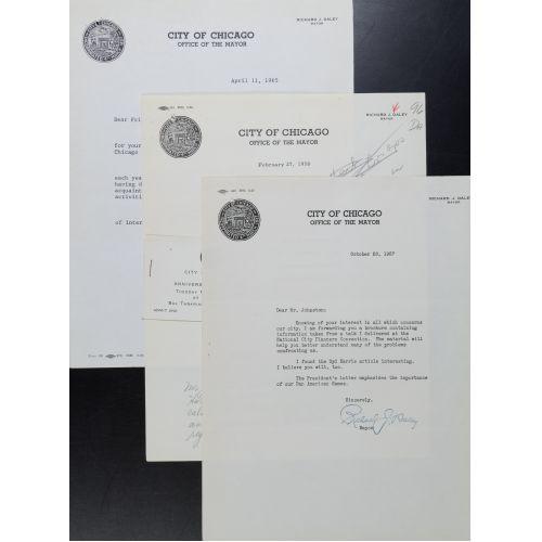 (3) Richard J. Daley, Chicago Mayor, Signed Letters - 1957-1965