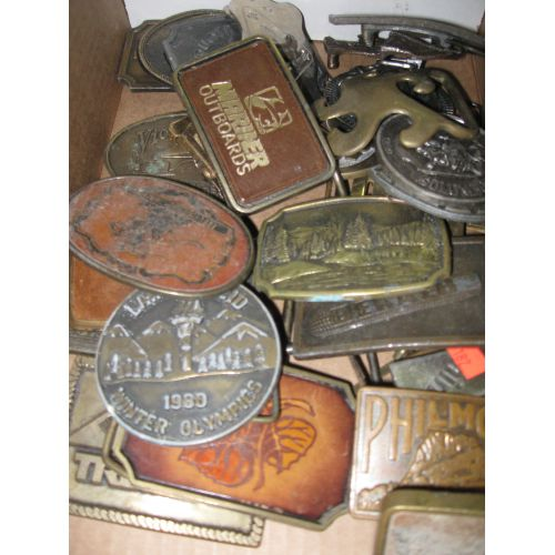 Group of Belt Buckles in various themes