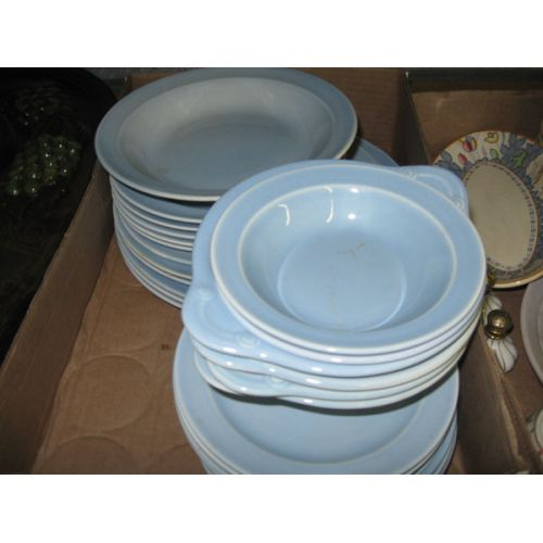 Pale Blue Lu-Ray Dishes