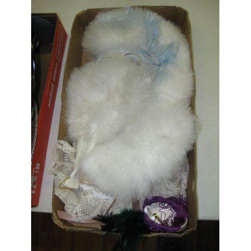 Masks, Feather Fan & Pillow