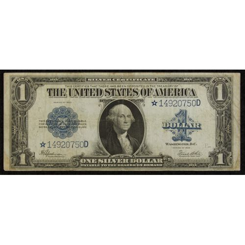 1927-D $1 Peace Silver $1 /& 1957 $1 Silver Certificate star note lot of 1 each