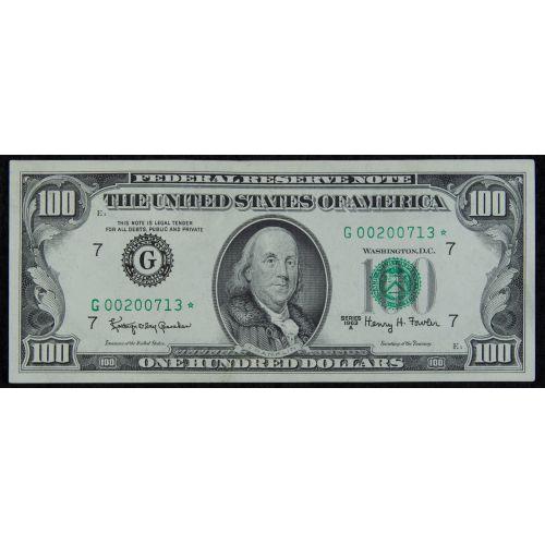 1963-A $100 Star Note CU