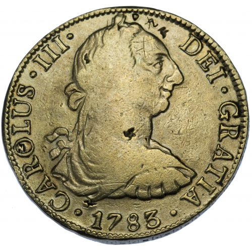 Spain: 1783 8 Reale VF