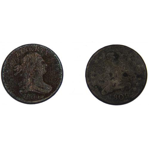 1804, 1809 1/2c G