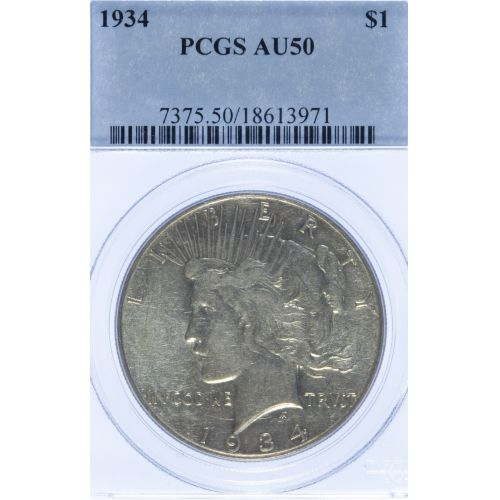 1934 $1 AU-50 PCGS
