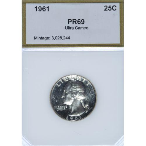 1961 25c PR-69 UCAM PCI