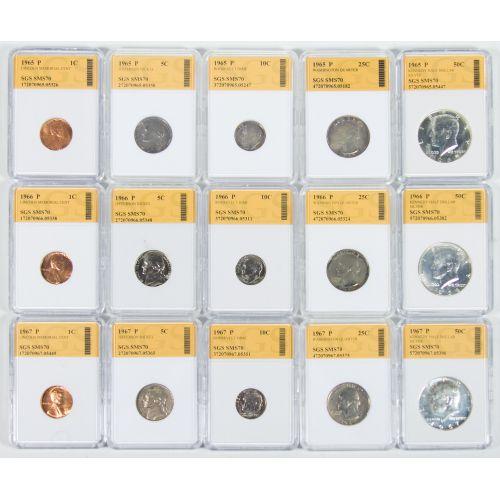 1965, 1966, 1967 Special Mint Sets SGS