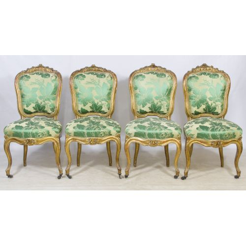 Louis XV Style Upholstered Side Chairs