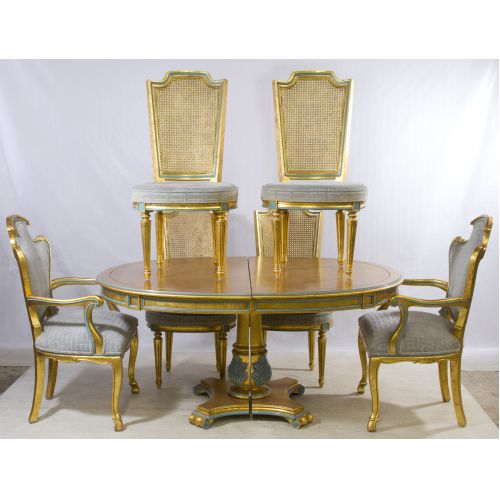 Sheraton Style Dining Room Table and Chairs