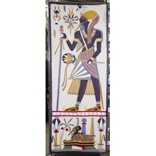 Egyptian Revival Applique Wall Hanging