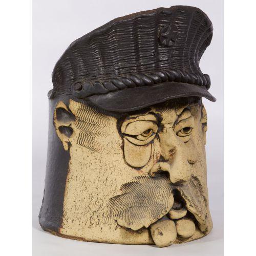 Ceramic Figural Planter by Black
