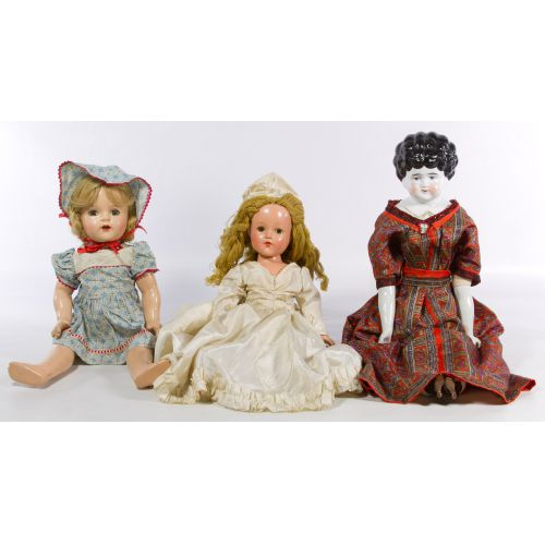 Victorian China Head and World War II Composition Doll Assortment