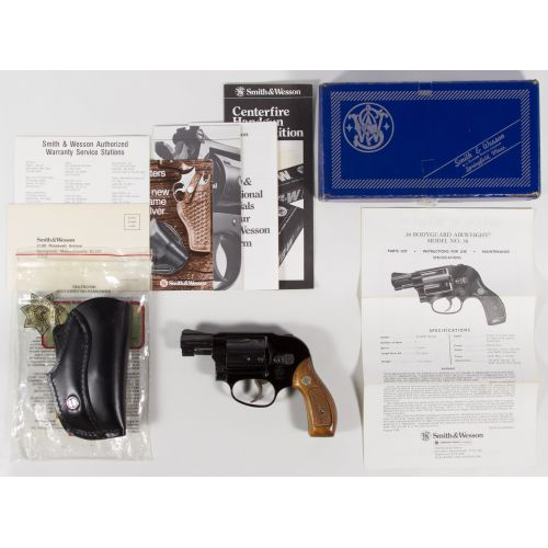 Smith & Wesson .38 cal Bodyguard Airweight Handgun (Serial #J918787)