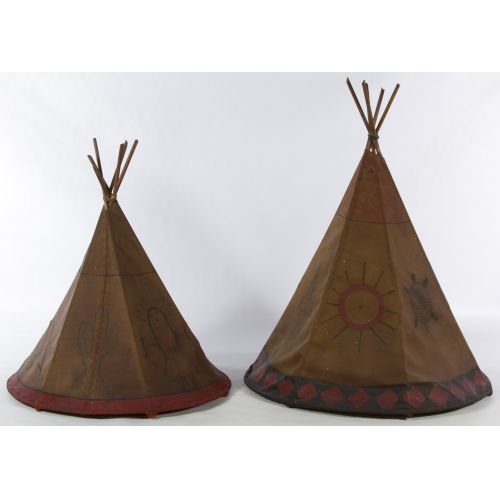 Teepee Style Painted Canvas Lamp Shades