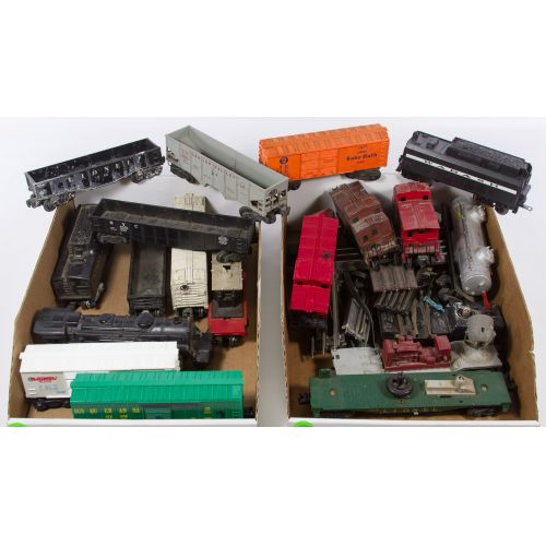 Lionel Model Train Engine, Cars and Track Assortment