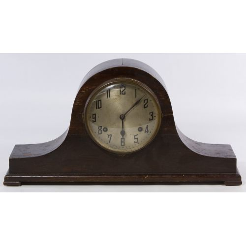 New Haven Clock Co. Tambour No.16 Humpback Mantel Clock