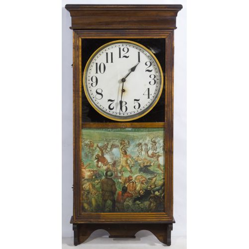 Sessions Clock Co. Wood Cased Wall Clock