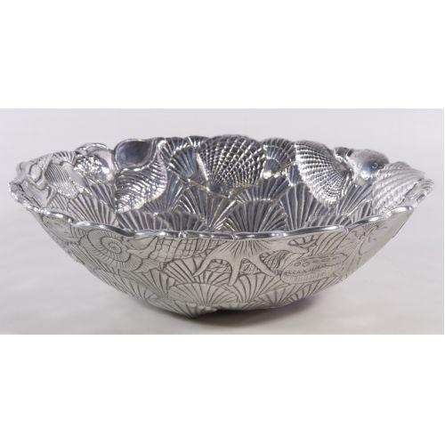 "Arthur Court (20th Century) ""Seashell"" Aluminum Bowl"