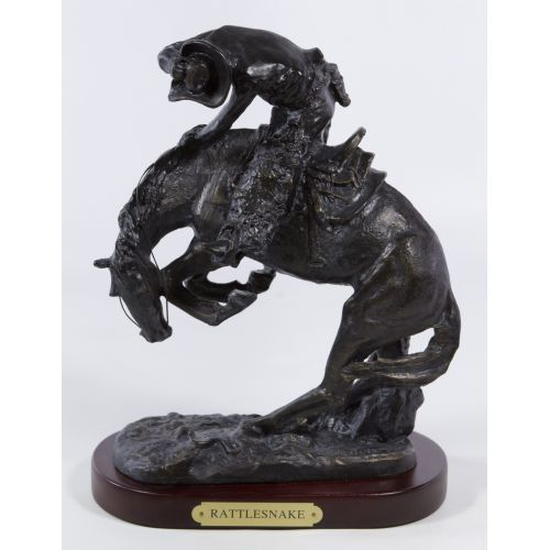 "(After) Frederic Remington (American, 1861-1909) ""The Rattlesnake"" Statue"