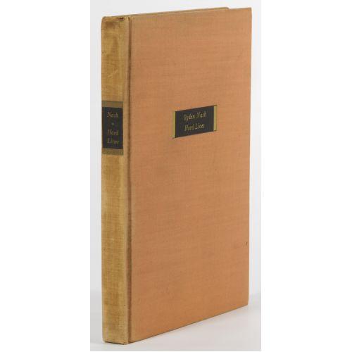 """Ogden Nash """"Hard Lines"""" Autographed Book"""