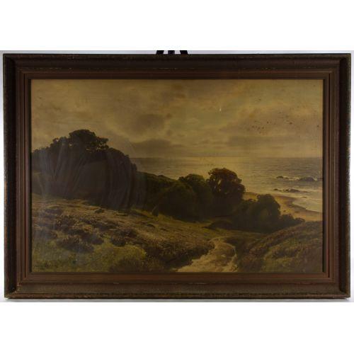 "Conrad Muller Kurzwelly (German, 1855-1914) ""Seascape"" Print"