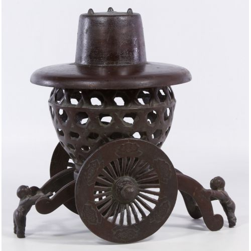 Asian Cast Iron Incense Burner