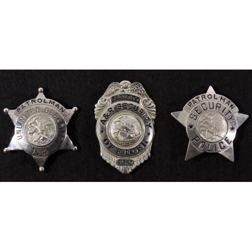 Illinois Police and Security Badge Assortment