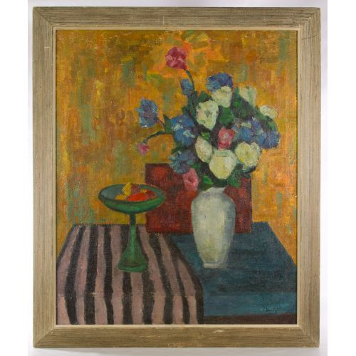 "Jan Cybis (Polish, 1897-1972) ""Still Life"" Oil on Canvas"