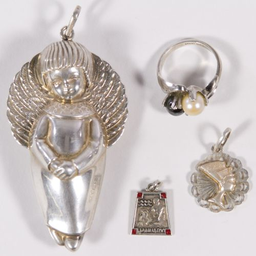 RM Trush Sterling Silver Angel Ornament