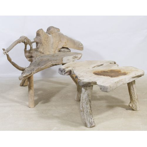 Driftwood Bench and Table