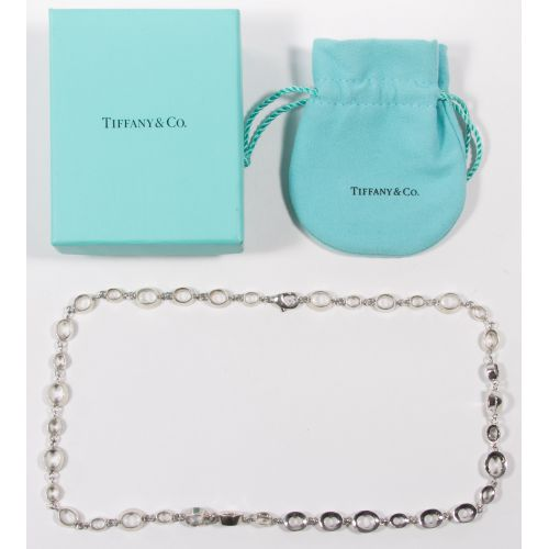 """Tiffany & Co Sterling Silver """"Open Oval"""" Necklace by Elsa Peretti"""
