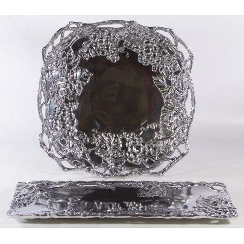 "Arthur Court (20th Century) ""Grapevine"" Aluminum Trays"
