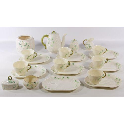 "Belleek ""Shamrock"" Tea Luncheon Set"