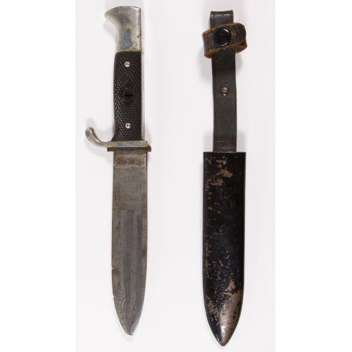 World War II German Hitler Youth Knife and Sheath