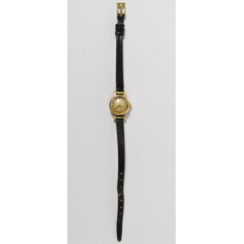 18k Gold Cased Omega Wrist Watch