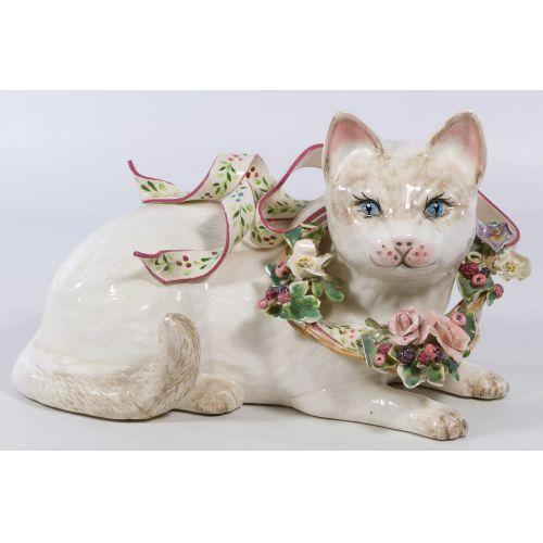 Lorna Bailey (20th Century) Ceramic Cat