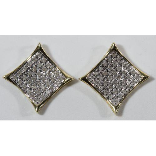10k Gold and Diamond Earrings