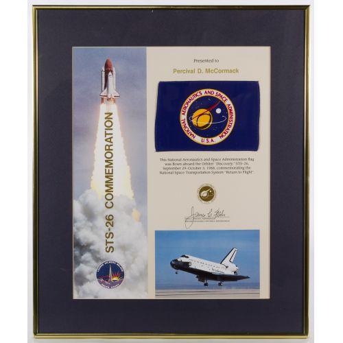NASA Administration Flag Lithograph