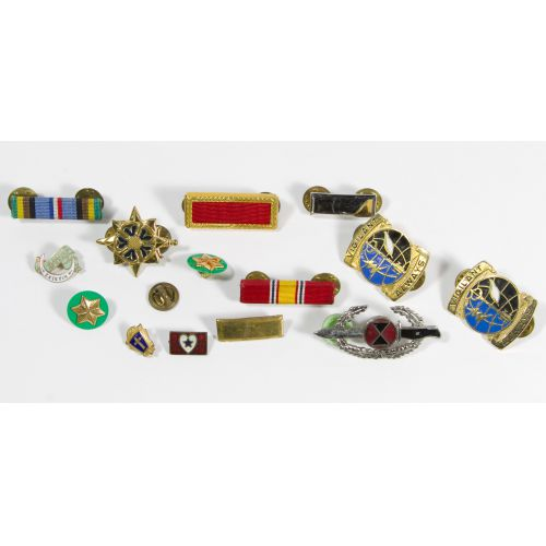 Military and Fraternal Pin Assortment