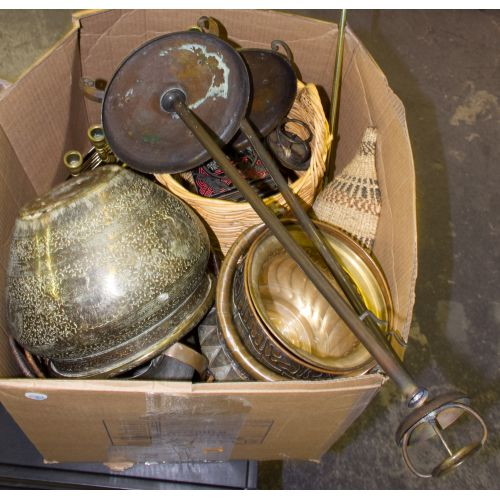 Brass, Copper and Basketware Assortment