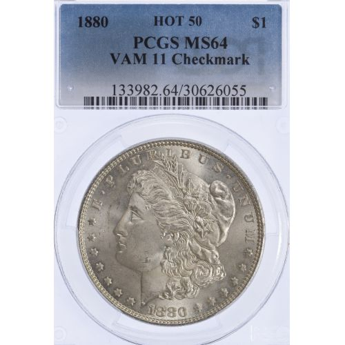 1880 $1 VAM-11 MS-64 PCGS